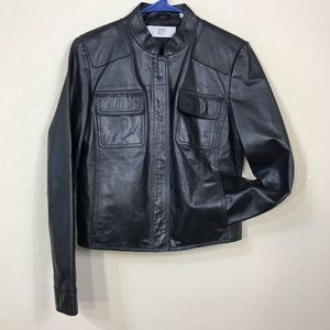 DKNY city Leather Jacket